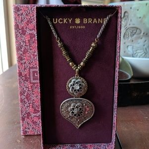 NIB Lucky Brand Two Toned Statement Necklace